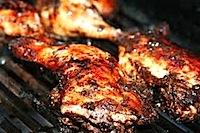 Jerk Chicken on grill